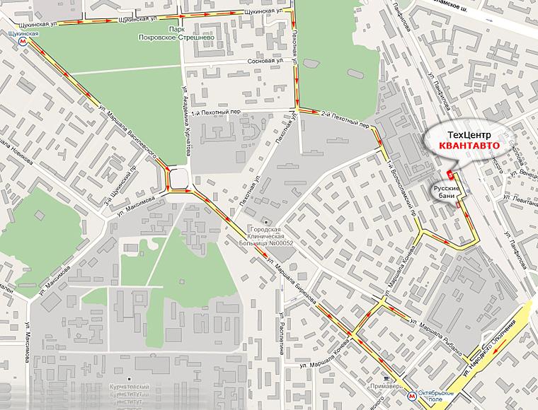 Карта проезда в Квант-Авто
